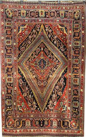A Qashq'ai rug Southwest Persia, Size approximately 7ft 7in x 4ft 10in