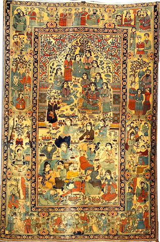 A Mohtasham Kashan rug Central Persia, Size approximately 6ft 8in x 4ft 5in