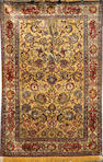 An Isfahan silk rug South Central Persia, Size approximately 6ft 7in x 4ft 6in