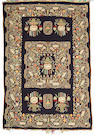 A Fereghan silk kilim Central Persia, Size approximately 6ft 3in x 4ft 3in