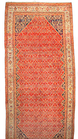 A Malayer runner Central Persia, Size approximately 20ft 5in x 9ft