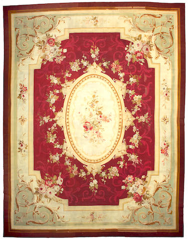 An Aubusson carpet France, Size approximately 15ft 10in x 11ft 10in