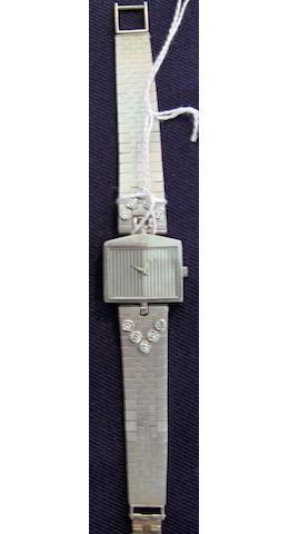 A white gold ladies Rolls-Royce wristwatch by Corum,