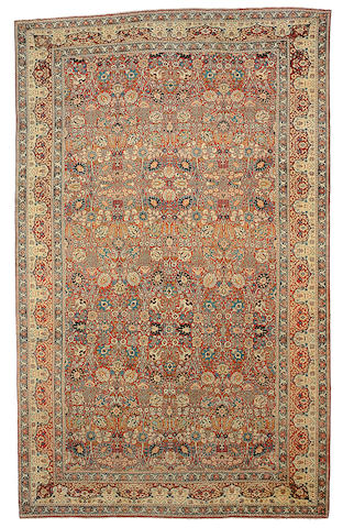 A Hadji Jalili Tabriz carpet Northwest Persia, Size approximately 21ft x 13ft