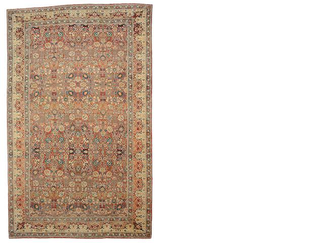 A Hadji Jalili Tabriz carpet Northwest Persia, Size approximately 21ft x 13ft