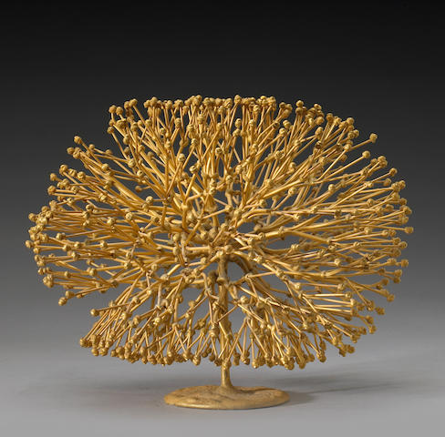 Harry Bertoia (American, 1915-1978) Untitled (Golden Bush) 9 x 12 x 11in (23 x 31 x 28cm)