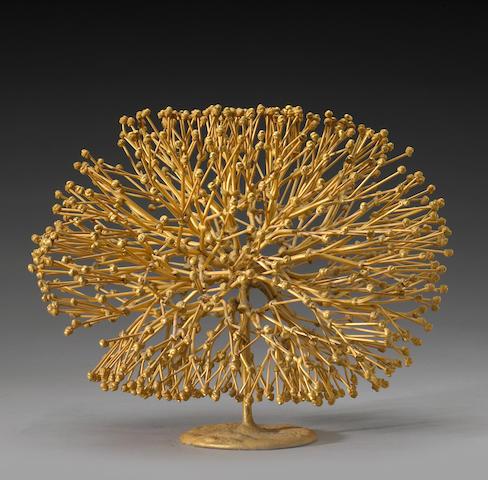 Bertoia.  gilded 'Bush' sculpture.