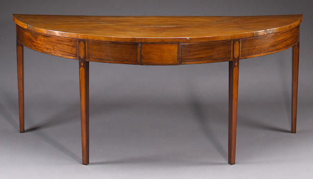 A George III inlaid mahogany hunt table