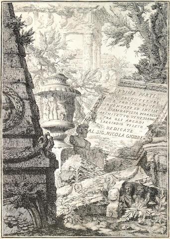 Giovanni Battista Piranesi; Prima Parte di Architetture, e Prospettive inventate, ed incise da Gio. Batta Piranesi Architetto Veneziano dedicate al Sig. Nicola Giobbe;