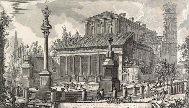 Giovanni Battista Piranesi; Veduta della Basilica di S. Lorenzo fuor delle mura, from Vedute di Roma;
