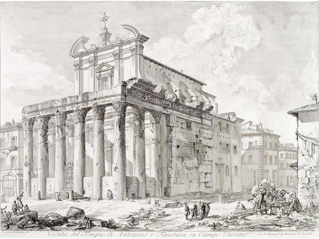 Giovanni Battista Piranesi; Veduta del Tempio di Antonino e Faustina in Campo Vaccino, from Vedute di Roma;
