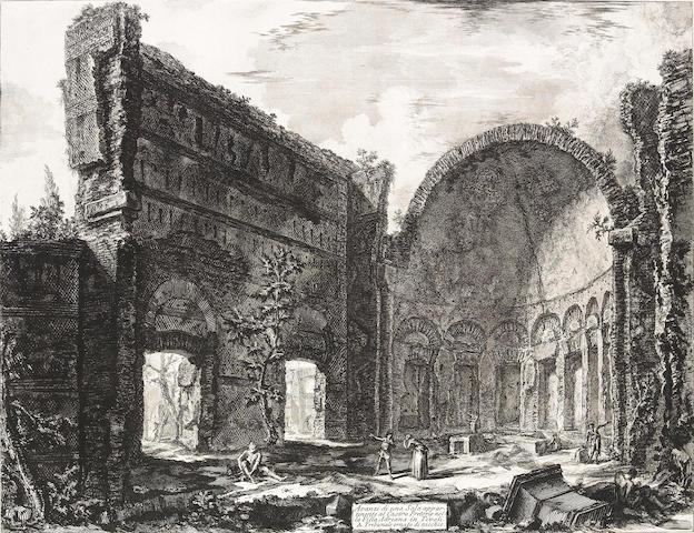 Giovanni Battista Piranesi; Avanzi di una Sala appartenente al Castro Pretorio nella Villa Adriana in Tivoli, from Vedute di Roma;
