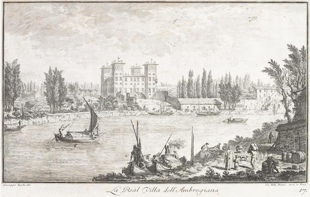 Giovanni Battista Piranesi, After Giuseppe Zocchi; La Real Villa dell' Ambrogiana, from Vedute delle Ville e d'altri luoghi della Toscana;