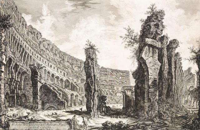 Giovanni Battista Piranesi; Veduta dell' interno dell' Anfiteatro Flavio detto il Colosseo, from Vedute di Roma;