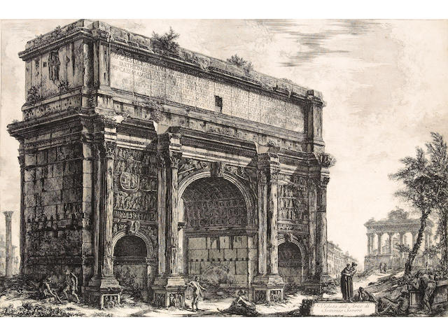Giovanni Battista Piranesi; Veduta dell' Arco di Setimio Severo, from Vedute di Roma;