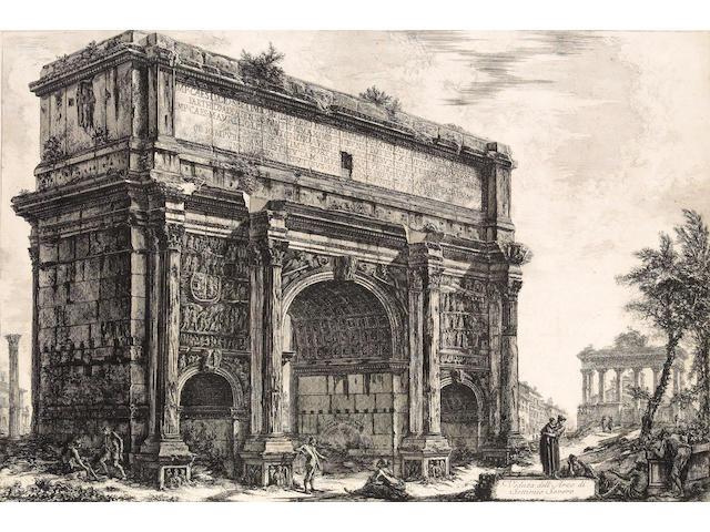 Giovanni Battista Piranesi; Veduta dell'Arco di Settimio Severo, from Vedute di Roma;