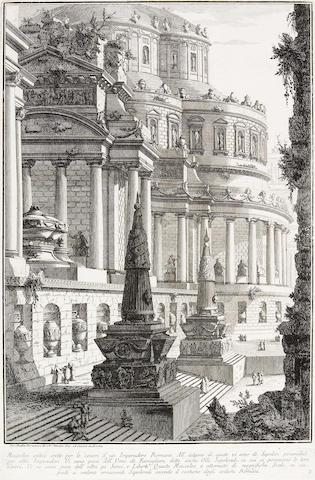 Giovanni Battista Piranesi; Mausoleo antico eretto per le ceneri d'un Imperadore Romano, from Prima Parte di Architture e Prospettive;