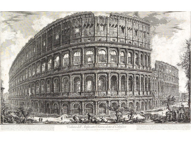 Giovanni Battista Piranesi; XXXVII. Fig. I. Veduta dell'Anfiteatro Flavio detto il Colosseo, from Le Antichitá Romane;
