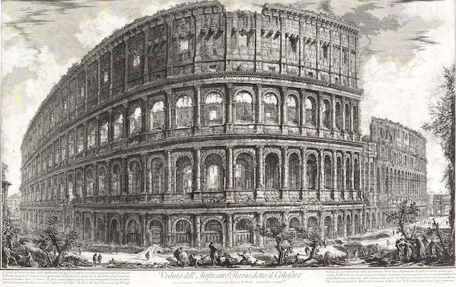 Giovanni Battista Piranesi; XXXVII. Fig. I. Veduta dell'Anfiteatro Flavio detto il Colosseo, from Le Antichità Romane;