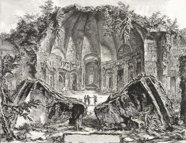 Giovanni Battista Piranesi; Avanzi del Tempio del Dio Canopo nella Villa Adriana in Tivoli;