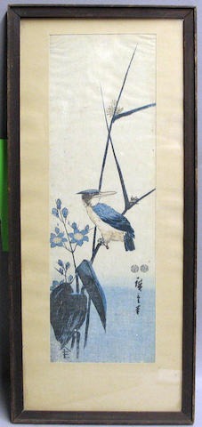 Eisen and Hiroshige: two woodblock prints
