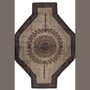 An Ivan Da Silva Bruhns Art Deco cruciform wool carpet