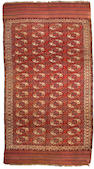A Bokhara carpet Turkestan, Size approximately 11ft 2in x 6ft 1in