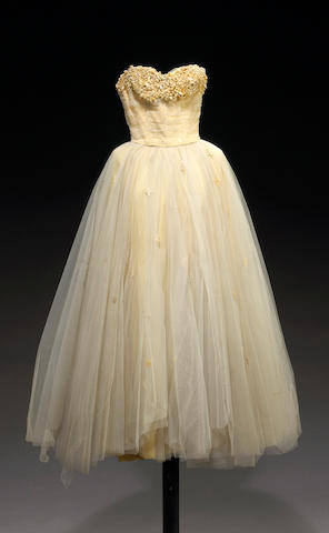 "An Elizabeth Taylor coutour gown from ""A Place in the Sun"""