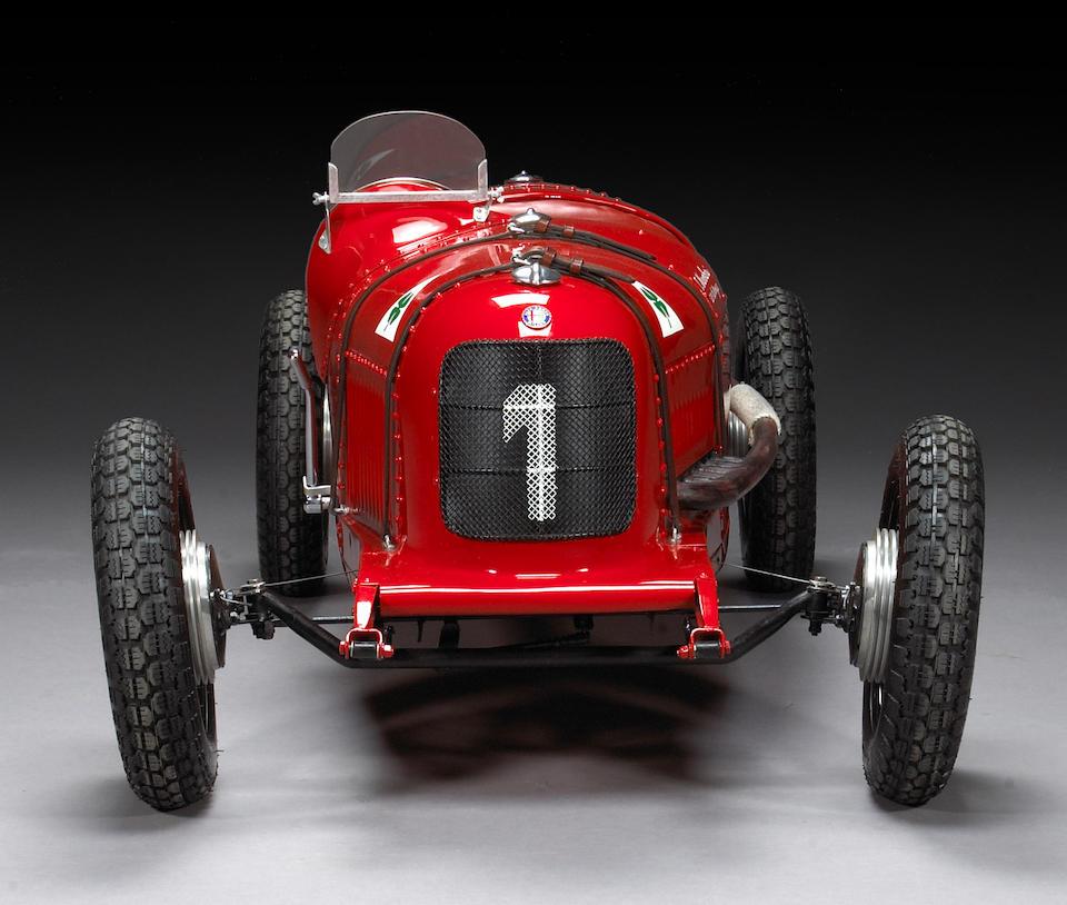 A fine 1:2 scale model of Tazio Nuvoliari's Grand Prix d'Monza, Alfa Romeo P2,