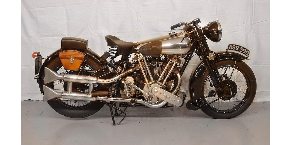 1937 Brough Superior SS-100 ASG 590 Frame no. 1788 Engine no. 1029