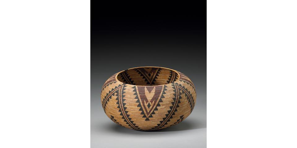 A Paiute polychrome basket, Carrie McGowan