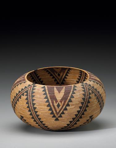 A Paiute polychrome basket, Carrie Bethel