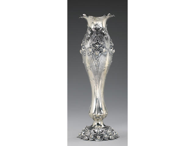 Sterling Art Nouveau Vase by Shiebler