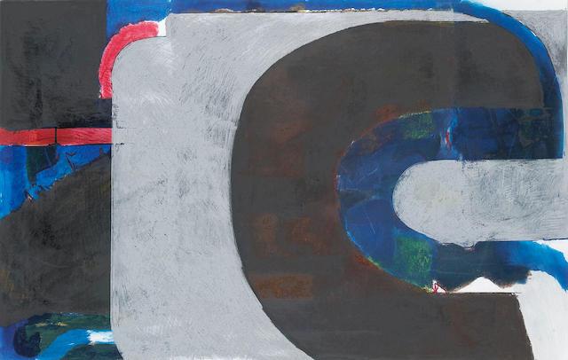 Jack Jefferson (American, 1920-2000) July '86 25 x 38in (64 x 97cm)