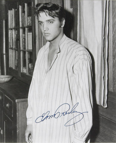 An Elvis Presley signed photo