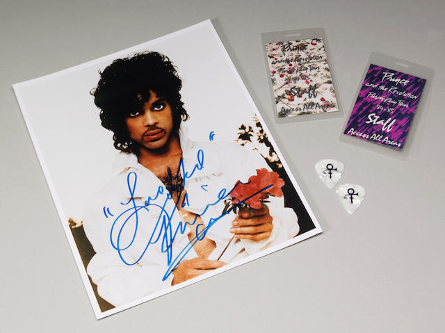 Prince Purple Rain signed photo