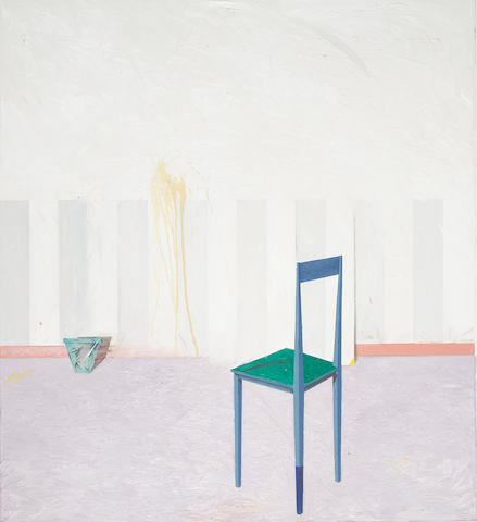 Jonathan Barbieri (American, b. 1955) Room III: Green Chair, Blue Pot, 1982 71 x 65in (180 x 165cm)