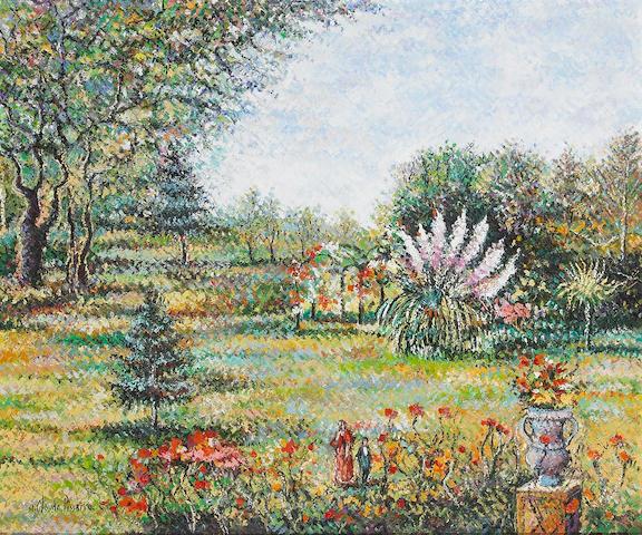 H. Claude Pissarro (French, born 1935) Dans le Parc D'Angouleme oil on canvas frame damaged, lower l