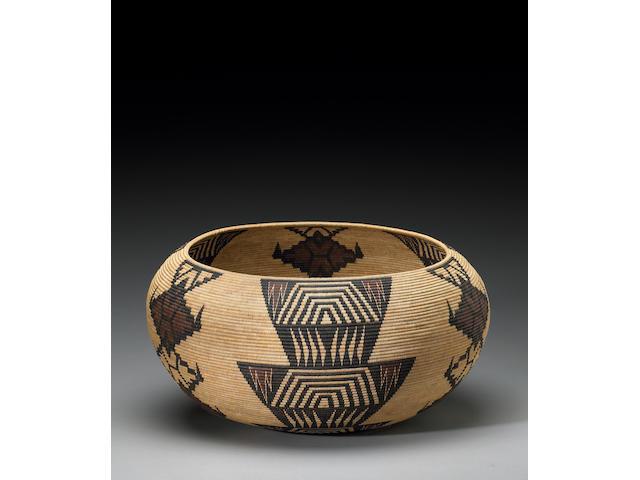 A Paiute polychrome basket, Tina Charlie