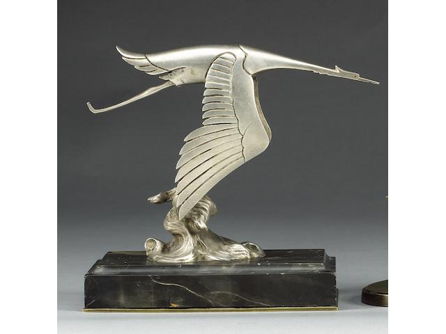 A superb Hispano-Suiza deskpiece by Frederick Bazin, French, circa 1919, Height: 7 ins