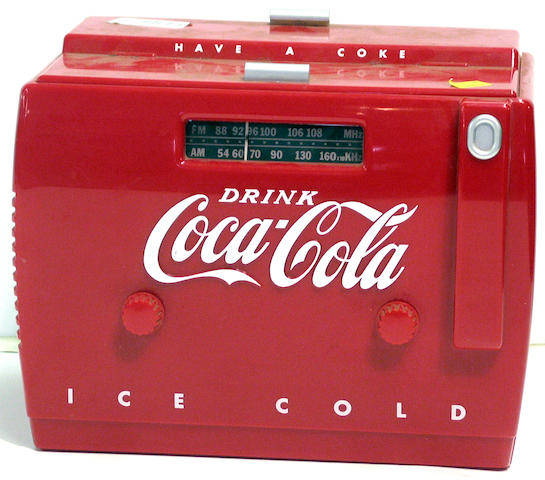 A Coca Cola Ice Cool 'Have a Coke' advertising radio and tape player,