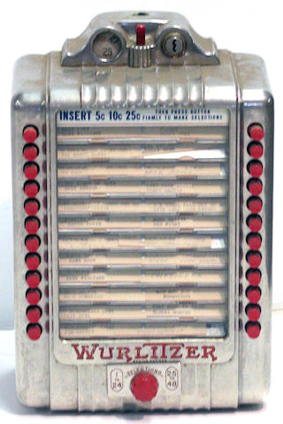A 1940s Wurlitzer record selector, Height: 13 ins