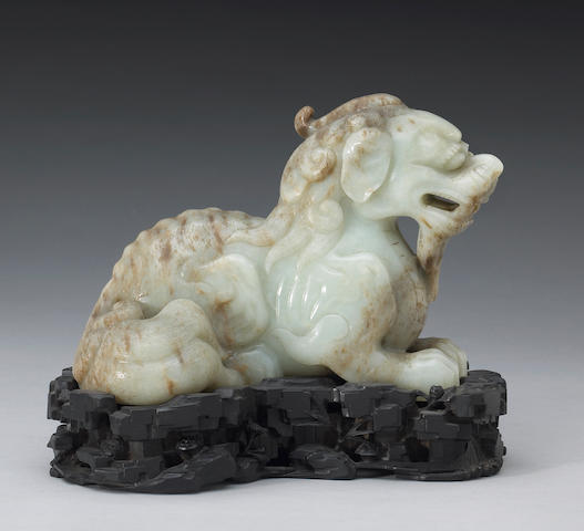 A nephrite carving of a chilong