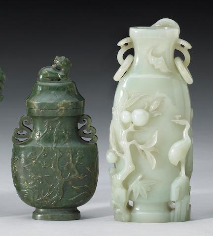 Two nephrite vases 19th Century