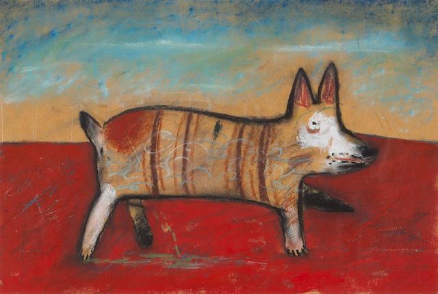 Alejandro Colunga (Mexican, b. 1948) El Perro Meando 12 x 18in (30 x 46cm)
