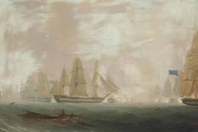 R.S. Thomas, Maritime Scene, o/c.