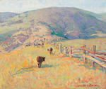Seldon Connor Gile, In the Hills, o/b.  1932.  P/C Oakland, CA.