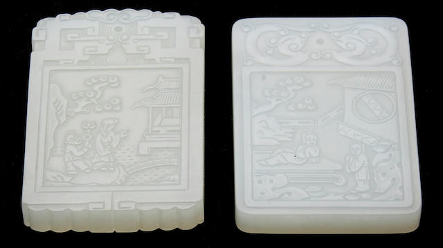 Two white jade pendants 18th/19th Century