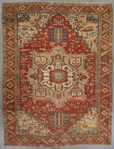 A Heriz carpet Northwest Persia, Size approximately 12ft 11in x 9ft 9in