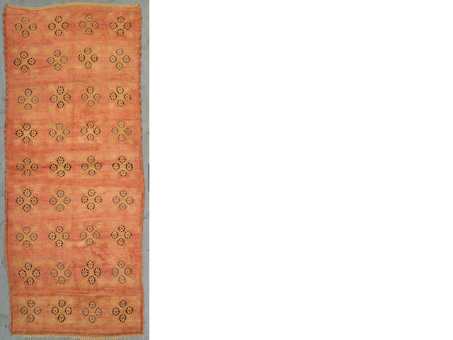 An Oushak runner West Anatolia, Size approximately 11ft 10in x 4ft 10in